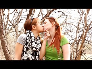 My girlfriend and i making out in the park Andrea sky