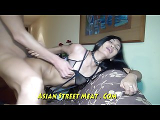 Well muscled asian clitoris grips cock