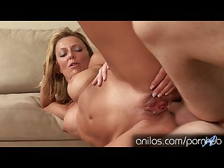 Blonde mom is hungry for anal from neighbor Hd