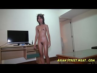 Small tittie thai girl buggered up botty