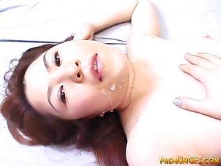 Hardcore japanese gets cumshot