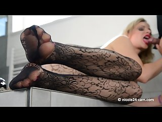 Stockings feet fetish blowjob milf