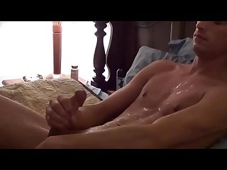 Hot guy jerking his nice cock
