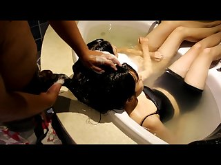 Hairjob video 117 twins sisters s hairjob