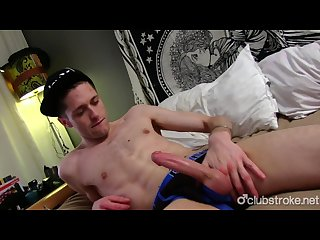 Horny straight guy joshua masturbating