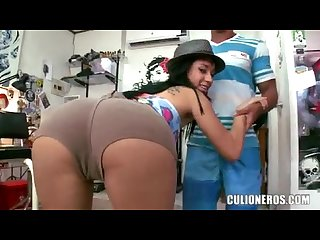 Candela colombian big ass teen fucked hard
