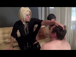 6 4 lady towers faceslaps puny male slave