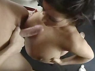 Misty mendez fills her mouth with two big cocks