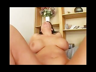Hefty milf takes it in the ass