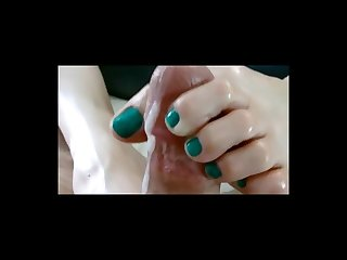 Lix close up footjob