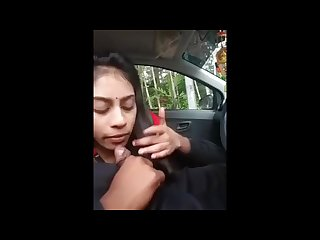 My little Desi Cousin blow job in car indian Pakistani