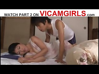 JAPANESE STEPMOTHER FUCKED BY HER SON - Watch Part 2 On VICAMGIRLS.COM