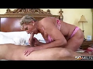 Horny grandma fucked by young guy