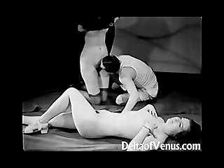 Antique porn 1930s Ffm threesome nudist bar