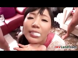 Sweet japanese swallowing a lot of cum
