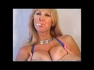 Hotty blonde smoking joi