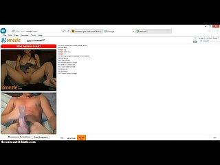 Omegle slut fucks herself to a big dick