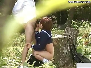 School student secret outdoor sex video
