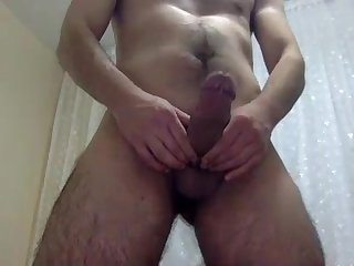 Big hard hairy heavy turkish cock shoots his cummm