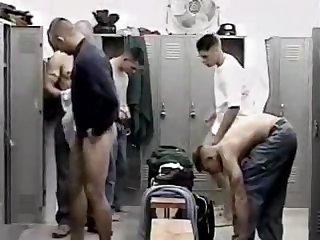 Ten sweaty guys one tiny room