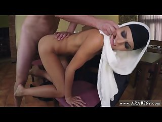 Arab girl dance on cam hungry woman gets food and fuck
