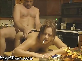 Kitchen Table Fucking - SMOKING ALHANA WINTER - Vintage RottenStar