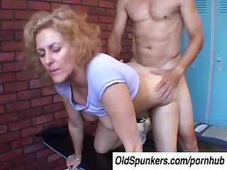 Dirty dana is a horny old spunker who loves the taste of cum
