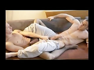 Blond twink fucked in pantyhose