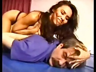 Mixed wrestling barbara femdom