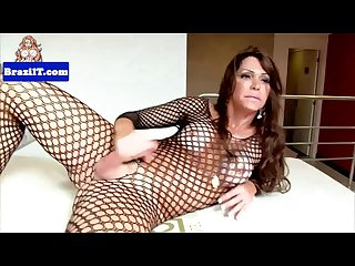 Lingerie latina jerking cock before cumshot