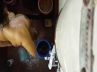 Desi indian mom hidden cam bath 1