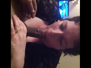 Bbw worships my cock