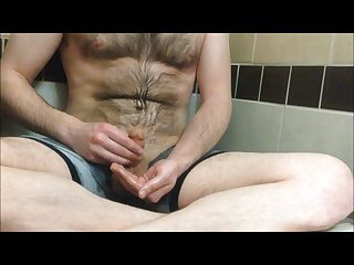 Jacking pissing all over myself then cumming
