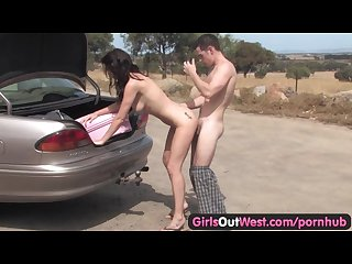 Girls Out West - Aussie couple fucking outdoors