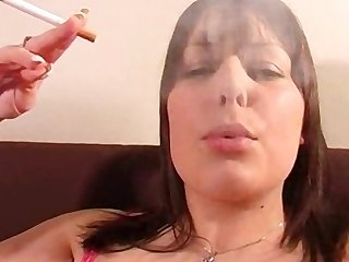 Bbw having a smoke