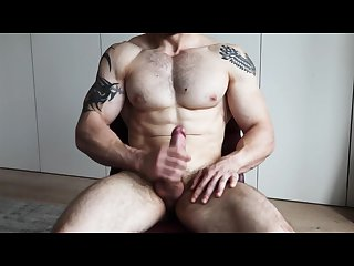 Muscle luke jerks off cums high definition
