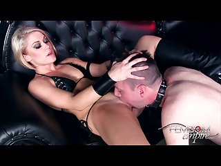 Good slave licking her mistress