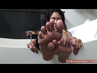 Big asian feet