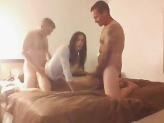 Tranny with two guys