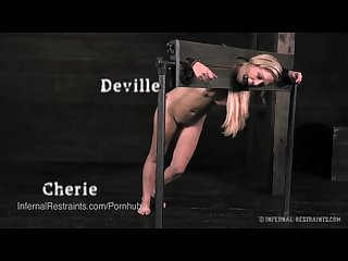 Cherie deville teased and tormented in uncomfortable bondage