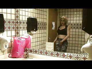 Karla carrillo in the bathroom