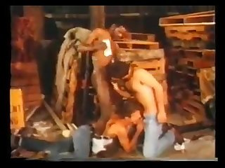 Vintage guys pissing fucking and drinking cum