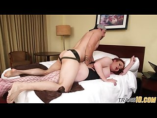 Tranny doggystyle fucking her sub lover