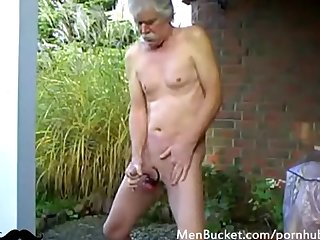 Real daddy jerking off