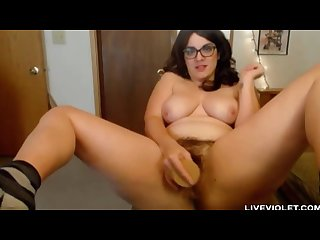 Hairy bush vagina mom violet ness with sexy glasses