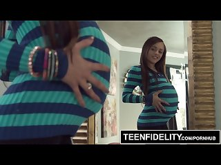 Teenfidelity holly hendrix trades anal to get creampied and pregnant