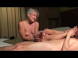 Leilani granny footjob