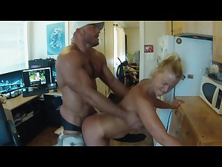 Breaking in my roommate s new boyfriend with a blow job and some fucking