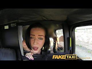 FakeTaxi Dark hair and natural tits takes a good hard fucking