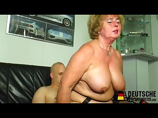 Granny mother is horny suck son very beauty